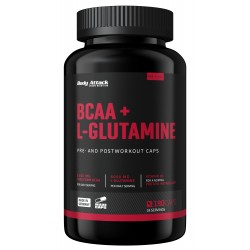 Body Attack, BCAA + Glutamine, 180ks