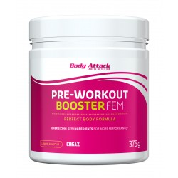 Body Attack, Pre-Workout Booster FEM, Lemon, 375g
