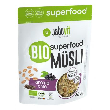 JabuVit, Bio superfood müsli Aronia & Chia, 500g