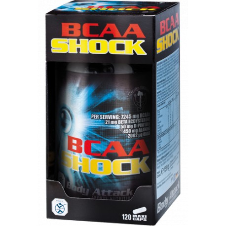 Body Attack, BCAA Shock, 120caps
