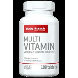 Body Attack, Multivitamin - Minerál, 100ks
