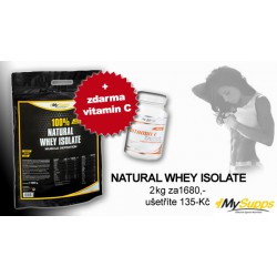 "My Supps, 100% Natural Whey Isolate, 2kg ""AKCE"""